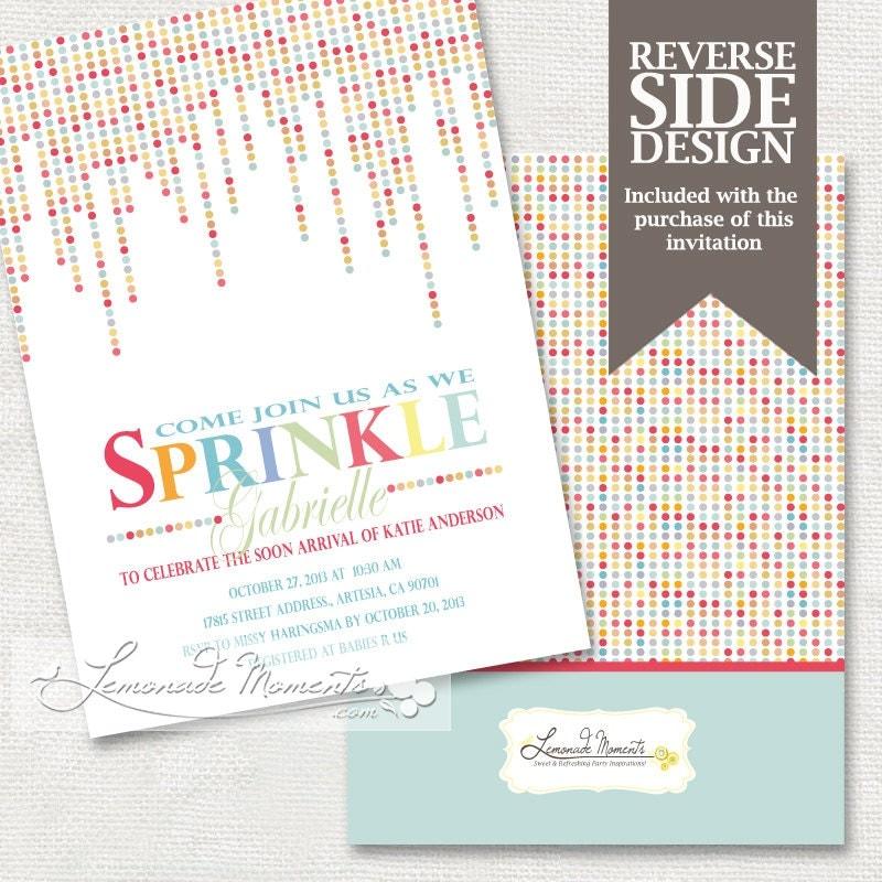 Baby Sprinkle Invitation / Baby Shower By LemonadeMoments