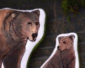 Handmade Bear Toys. Hand-painted American Grizzly Bear Family set by Aly Parrott on Etsy. Ready to ship.