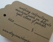 Tag Labels for Price Tags or Wedding  Favors  - Set of  200 - Large Rectangle