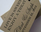 Favor Tags for Weddings Showers Gifts and Escort Cards or Customized with your logo or design -   50