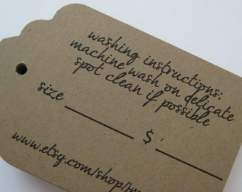 Large Tags Labels for Retail Price Tags or Wedding  Favors  - Set of  200 - Large Rectangle