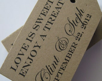 Favor Tags for Weddings Showers Gifts and Escort Cards or Customized with your logo or design -   100