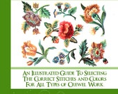 Learn What Stitches Colors and How To Use Them with This RARE  illustrated JACOBEAN EMBROIDERY Tutorial Book 5 Star Reviews