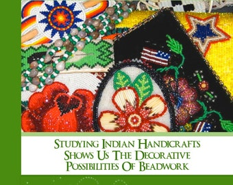 How To Do Beadwork RARE  illustrated Tutorial Book Learn All About Indian Bead Handicrafts