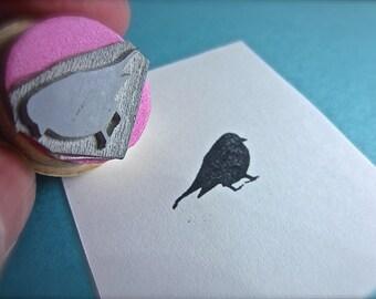 Fluffy Bird Rubber Stamp