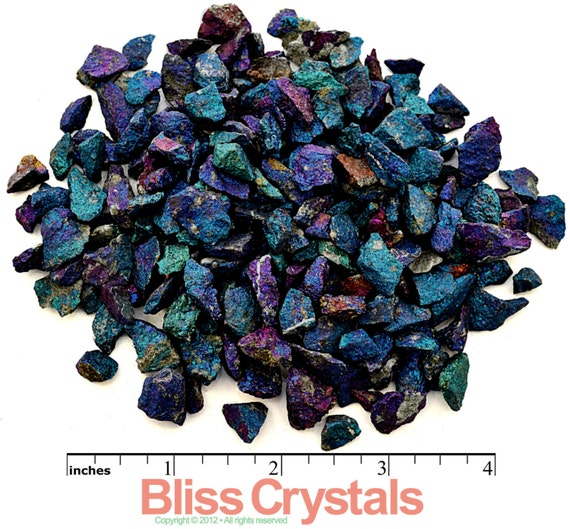 """1/4 lb Chalcopyrite """"Peacock Ore"""" Mini Stone Rough Crystal Chips - Metaphysical Healing , Medicine Bag, Reiki, Jewelry & Crafts"""