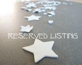 Reserved for Amanda // 25 porcelain stars