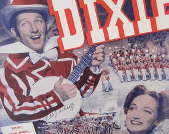 Vintage 1943 Sheet Music Sunday, Monday, or Always from the Movie Dixie Featuring Bing Crosby & Dorothy Lamour