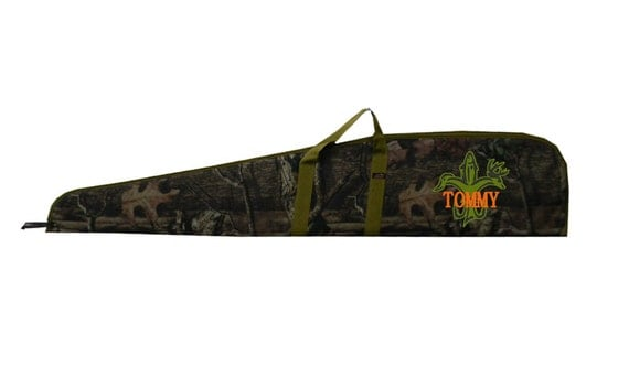 Personalized With Hunters Fleur De Leis and Name 52 Inch Real Tree Camo Riffle Bag