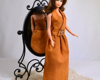 Mod Barbie Retro 60s 70s Halter and Skirt Outfit Handmade