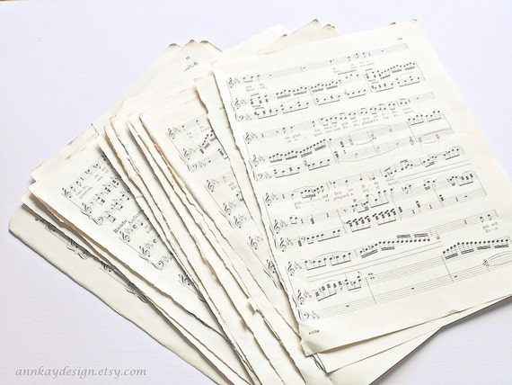 Vintage Sheet Music 15 Paper Sheets /  15 Vintage Notenblätter