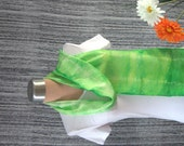 Spring Green Ombre Hand Dyed Silk Scarf