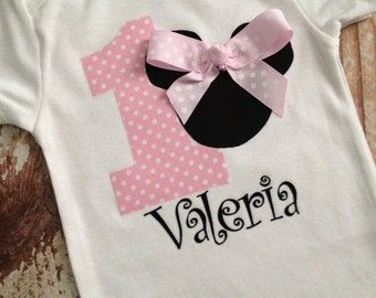 Minnie Mouse Inspired Shirt - Soft Pink, Birthday Party Shirt, Disney Vacation Shirt
