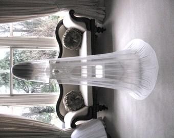 Silk tulle veil, bridal veil - 100% silk tulle wedding veil - chapel length  - Modesty