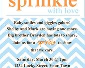 Sprinkle baby shower Invitation Template 4x6