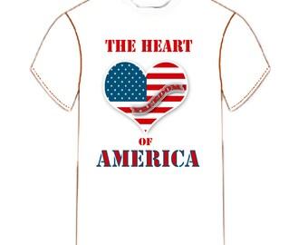 The Heart of America Flag Tee Shirt