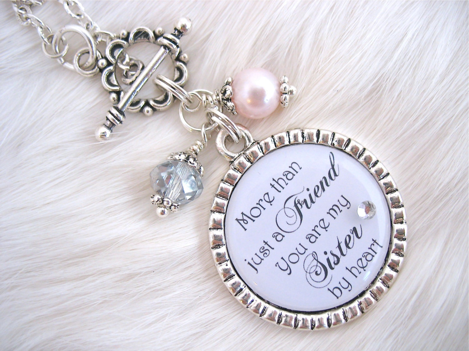 Perfect Wedding Gift For Sister: BRIDESMAIDS Gift Sisters By Heart BEST FRIENDS Wedding Quote