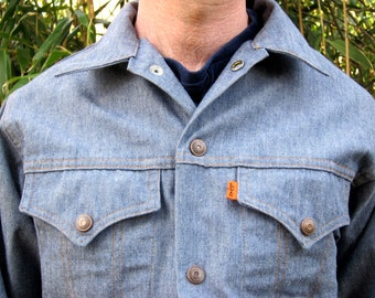 Vintage Levi's Denim Jacket Mens 1970s Light Blue Denim