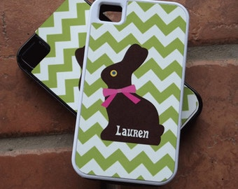 Personalized iPhone Tough Case Chocolate Bunny