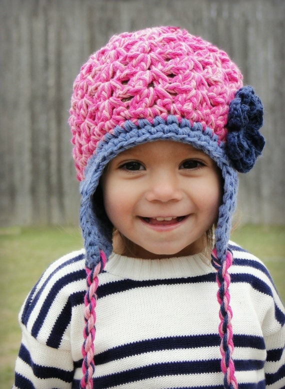 Crochet Baby Hat Kids Hat Crochet Earflap Hat By