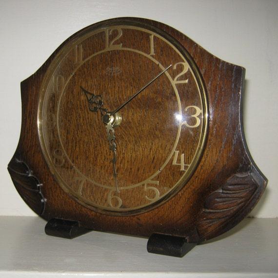 Vintage Smiths Clock Recycled Mantel Shelf 1940's