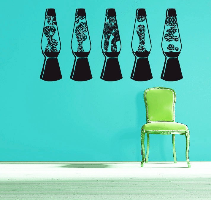 Wall Plug In Lava Lamp : Lava lamp wall decal set of 5 lava lamps with different