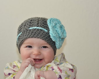 baby hats, baby girl hat, baby hat, crochet baby hat, kids hat, crochet kids hat, newborn girl hat, hat with flower