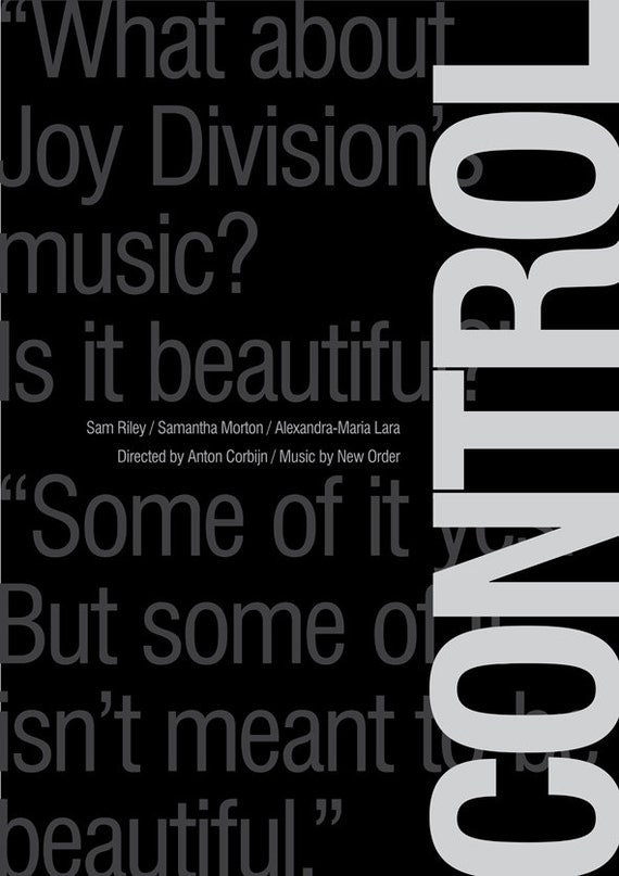 control movie poster joy division print wall by