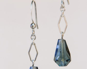 Montana Blue Crystal and Sterling Silver earrings