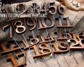 Rustic Wooden Table Numbers For Wedding and Reception Decor. Numbers 1-20