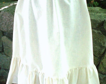 Vtg. Ivory Cotton Gathered Skirt
