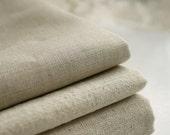 Natural Beige Linen Flax Fabric/ Linen/ Natural Fabric/ Upholstery/ Native Cotton Linen- 1/2 yard (QT127)