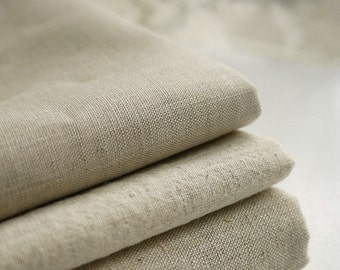 Natural Beige Linen Flax Fabric/ Linen/ Natural Fabric/ Upholstery/ Native Cotton Linen- 1/2 yard (QT127)