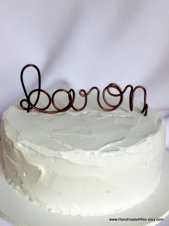 custom last name wedding cake toppers wedding cake topper personalized last name by handmadeaffair 13213