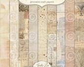Mixed Media 9 Digital Printable Scrapbook Papers Set by Jodie Lee ... Instant Download and Print