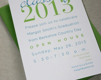 DIY . Graduation Party Invitations . print your own A7. digital file