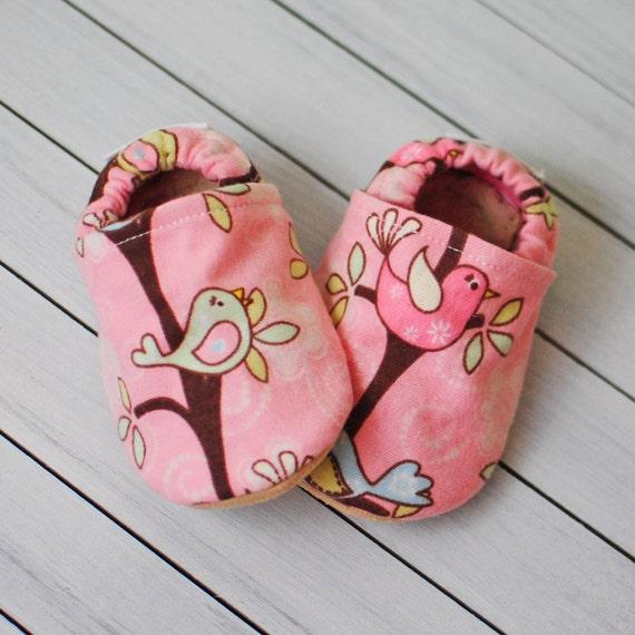 Summer Bird Baby Shoes
