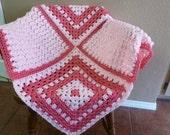Pink Baby Blanket Crochet afghan