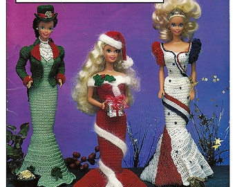 Fashion Doll Holiday Costumes Crochet Pattern Book  Annies Attic 87F77