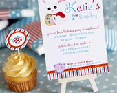 DIY PRINTABLE Invitation Card - Alice in Wonderland Birthday Party Invitation - PS806CA1a1