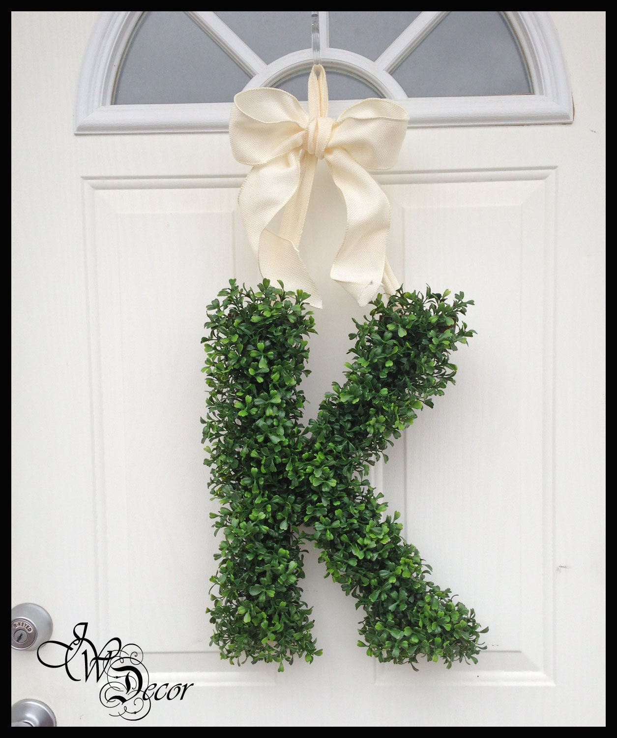 Monogram Front Door Decoration: Front Door Decorations Personalized Wreaths Year Round