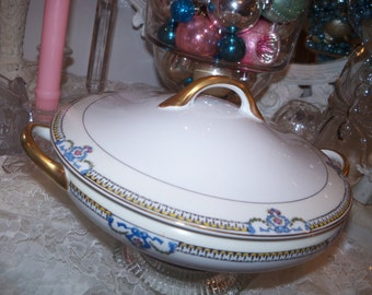 Covered Round Serving Bowl Large Noritake Beaumont 69534