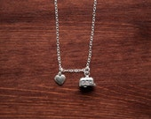 I Heart Camping - Sterling Silver Charm Necklace
