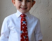 Pirates Skull and Crossbones Adjustable Boy's Neck Tie - Size 6 Months to 5T
