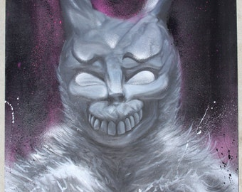 Donnie Darko Frank Character Original Acrylic & Aerosol Painting on MDF board