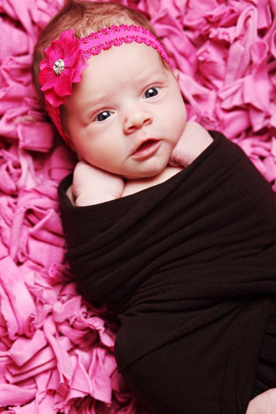 Baby Headband, Newborn Bows, Newborn Headband, Baby Bows, blessing headband, flower headband, infant headband, hot pink headband