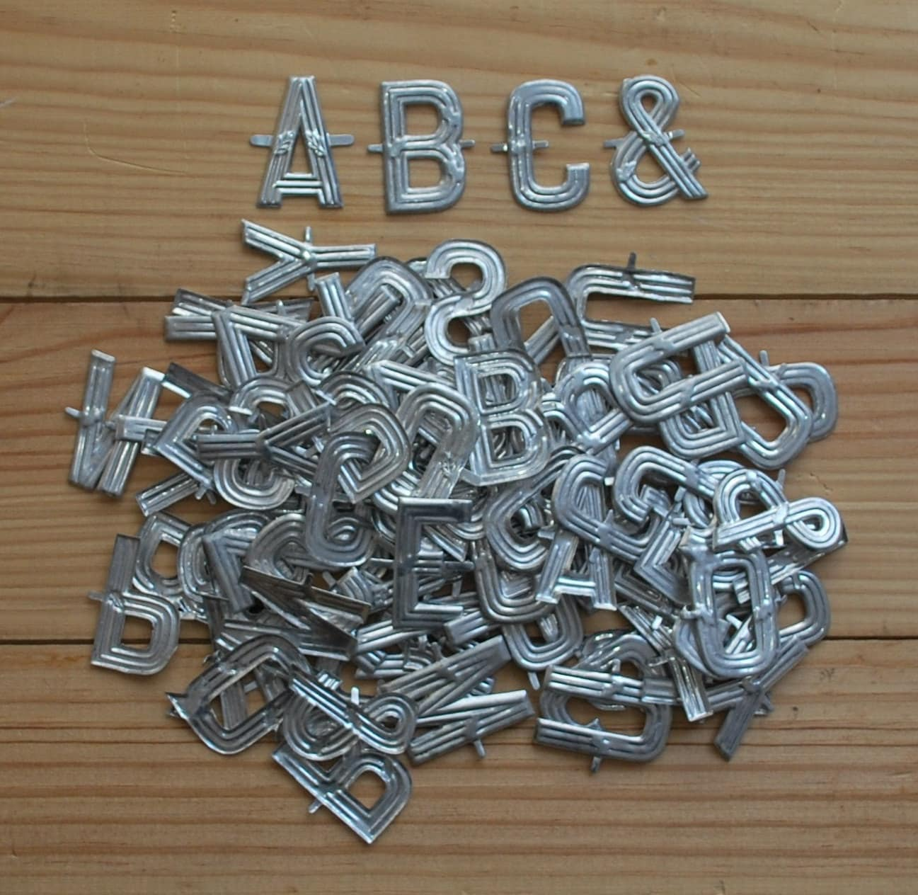 small metal letters vintage metal letters small florist alphabet for crafting 24901