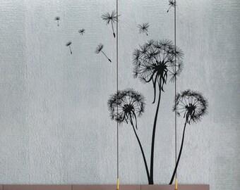 Dandelions 3 - uBer Decals Wall Decal Vinyl Decor Art Sticker Removable Mural Modern A331