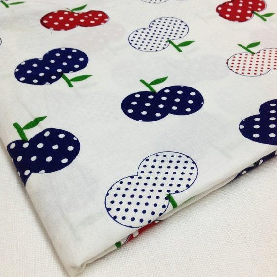 Items similar to apple print cotton fabric baby nursery for Baby nursery fabric yard