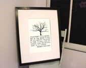Everybody is a genius - Print  Tree Quote Print Holiday Gift